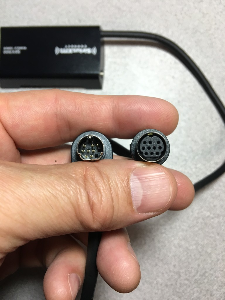 Sirius XM tuner connection to adapter cable
